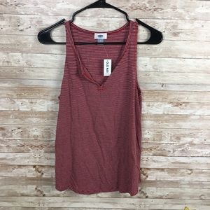 Old Navy NWT Red Stripe Tank Top Size M
